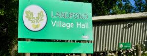 Landford Village Hall outside signage banner