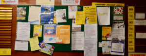 Landford Village Hall Noticeboard