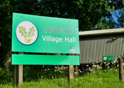Landford Village Hall Outside Signage